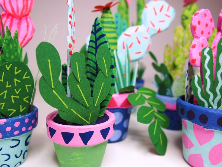 Are you one of those people who tends to kill plants before you've even had chance to pot them? If that's the case, then you'll be happy to know there's a solution. These Paper Cacti by Brooklyn-based...
