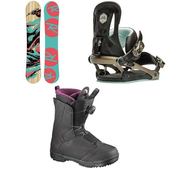 Rossignol - Gala Amptek Snowboard - Women's + Rome Strut Snowboard Bindings - Women's + Salomon Pearl Boa Snowboard Boots - Women's 2017