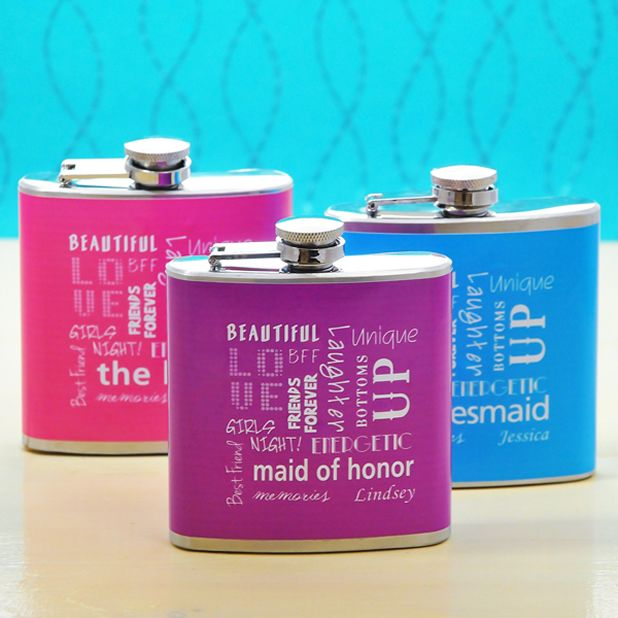 These are cute my bridesmaids will love these flasks.