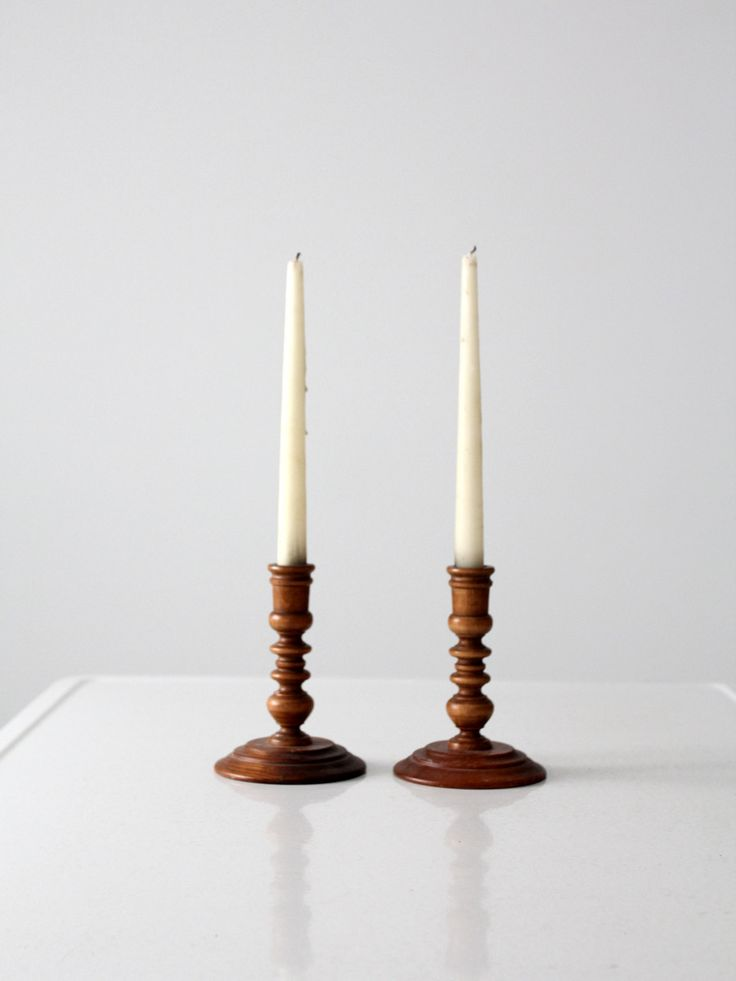 vintage wood candle holders 251 best Candle
