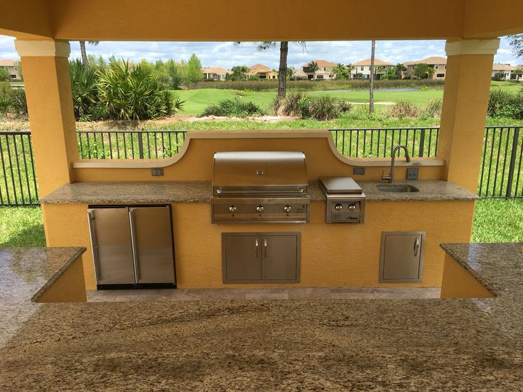 Custom outdoor kitchen by the bbq depot for toll brothers
