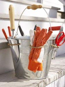 Organizador portátil de herramientas para jardinería - Guía de MANUALIDADES