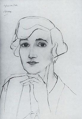 jan toorop | Jan Toorop, Portrait of Aglaia von Zech - Not dated