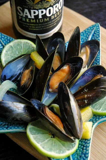 Beer-Steamed Mussels with Ginger, Mango, & Lime (Sustainable Seafood Blog Project!)