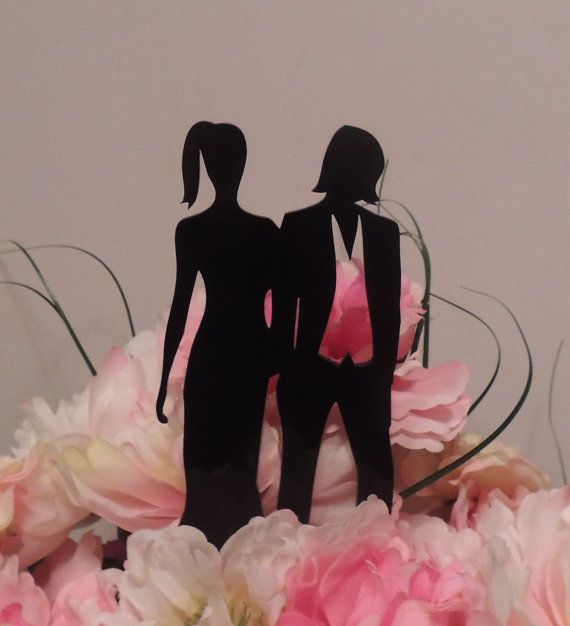 Lesbian Lovers Topper Etsy shop https://www.etsy.com/listing/179249422/ellen-inspired-women-in-love-cake-topper Come look at our lady toppers.  We do custom orders too.