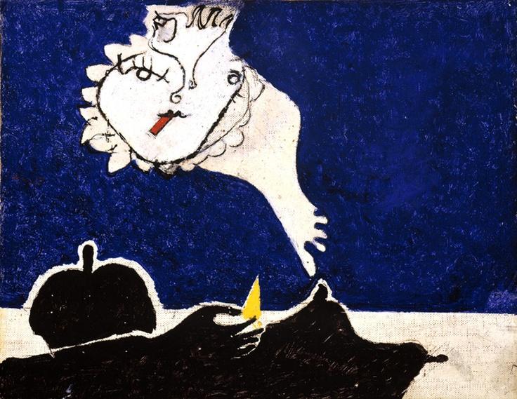 Osvaldo Licini - Amalassunta con sigaretta  www.mart.tn.it/magnificaossessione