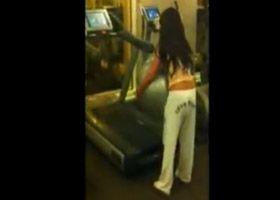 yoga ball and treadmill = bad idea