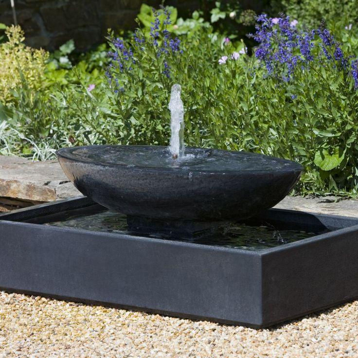 Outdoor , Extravagant Modern Outdoor Fountain for Enhancing Your Garden's Beauty : Garden Fountain In Modern Style With Bowl Idea