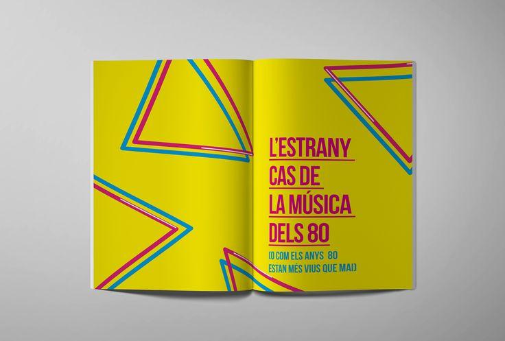 Disseny gràfic i maquetació per al llibre Bojos per la música dels 80 publicat per Planeta a principis del 2017. Escrit pels germans Alfred i David Picó.