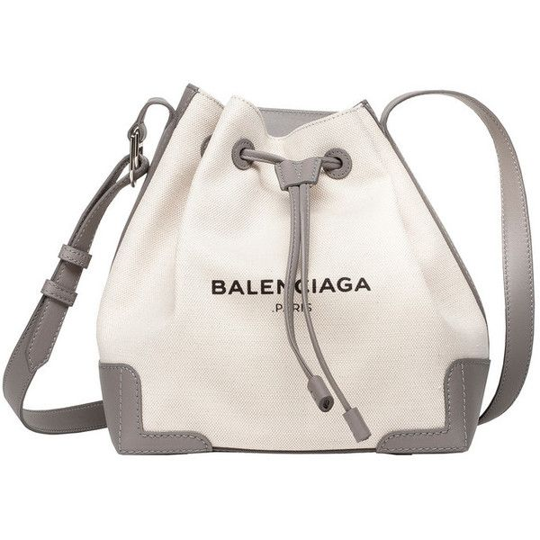 Balenciaga Navy Bucket (3.575 BRL) ❤ liked on Polyvore featuring bags, handbags, shoulder bags, white shoulder bag, bucket bags handbags, navy handbag, bucket bag and navy blue handbags