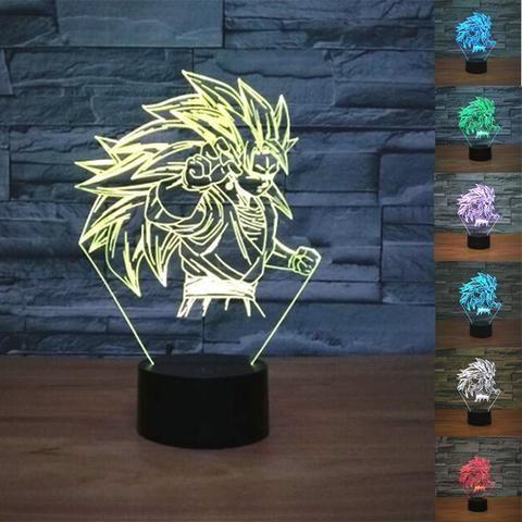 Dragon Ball Son Goku 3D Illusion LED Lamp - Design 2