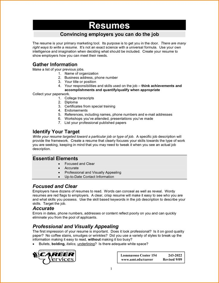 40 best Resume Templates images on Pinterest Curriculum, Resume - how to write a resume paper