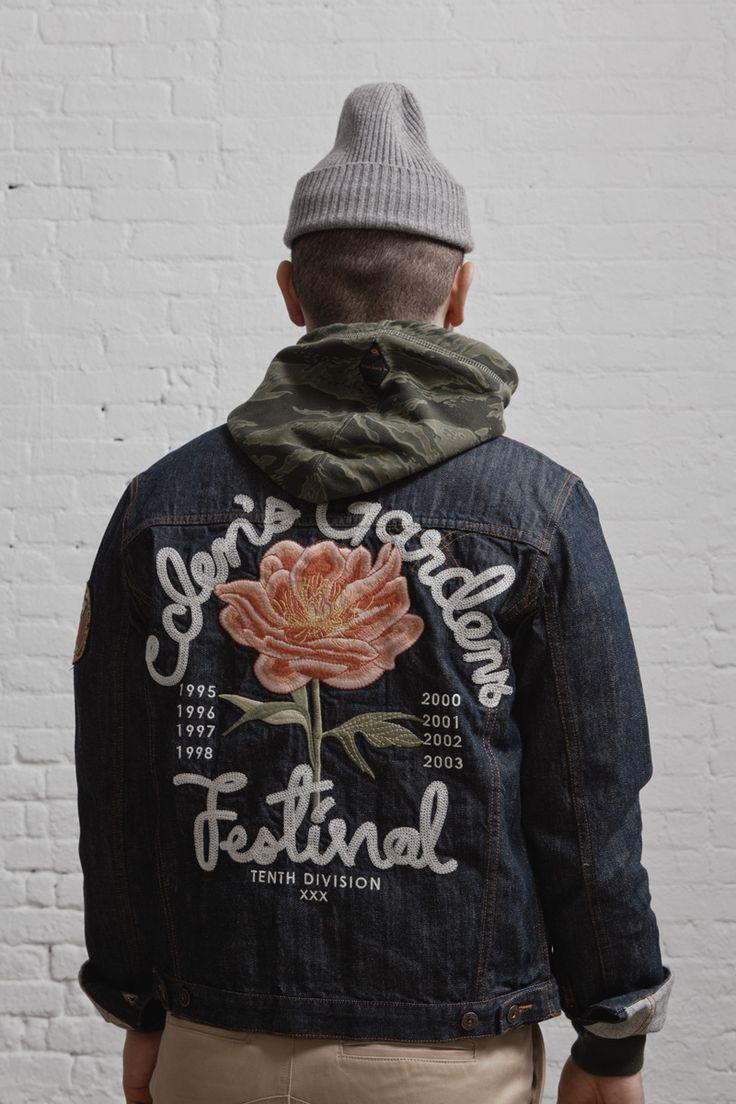 Badass embroidered denim jacket?
