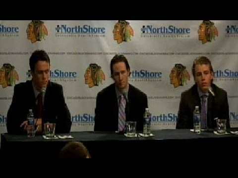 ▶ Jonathan Toews, Duncan Keith and Patrick Kane on Their Contract Extensions 2009 - YouTube