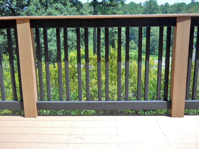 Twist on the traditional vertical posts Wood deck