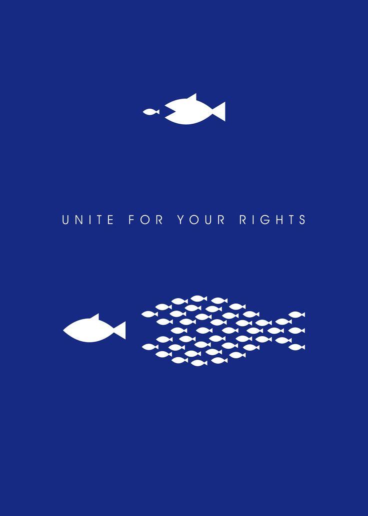 """Unite"" by Fabio Gioia (Italy). Good50x70. 2008, Human Rights Violation brief."
