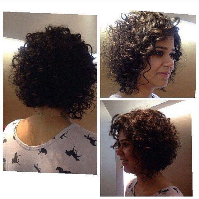 Corte cabelo cacheado
