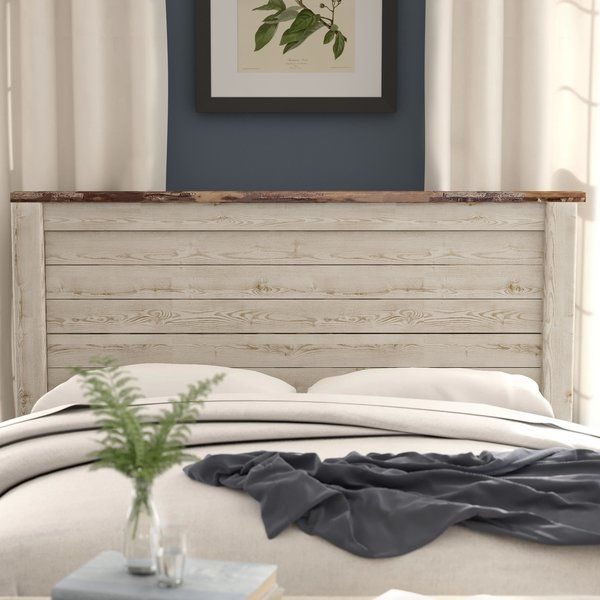 Brimming With Rustic Style This Wood Panel Headboard Is An Understated Addition To Your Bedding Arrangement Its W Headboard Designs Panel Headboard Headboard
