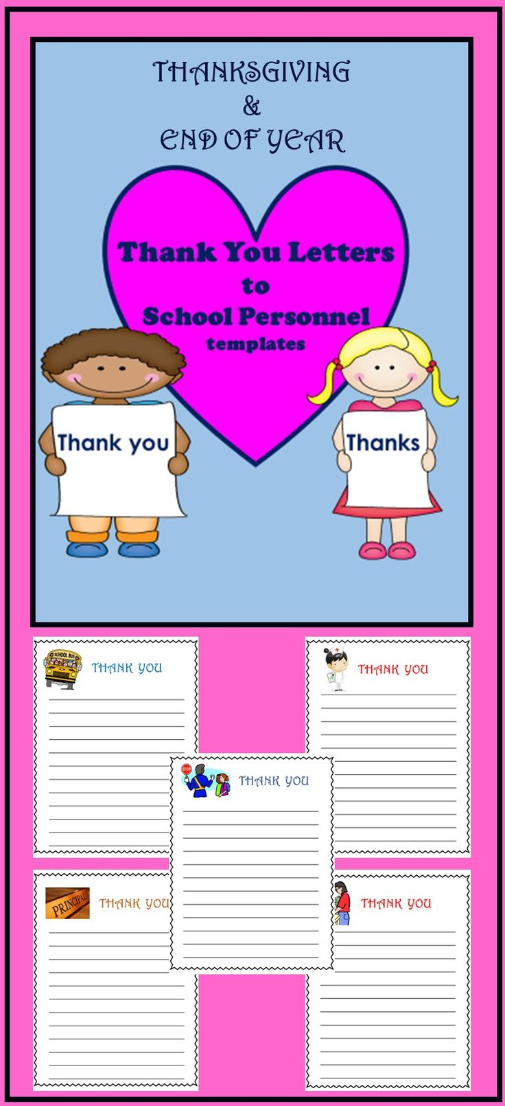 22 best writing images on pinterest school english language and friendly letter writing thank you letters to school staff spiritdancerdesigns Gallery