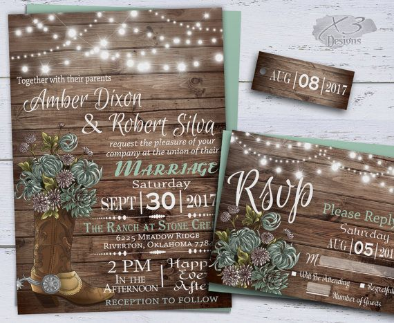 best 25+ country wedding invitations ideas on pinterest | rustic, Wedding invitations