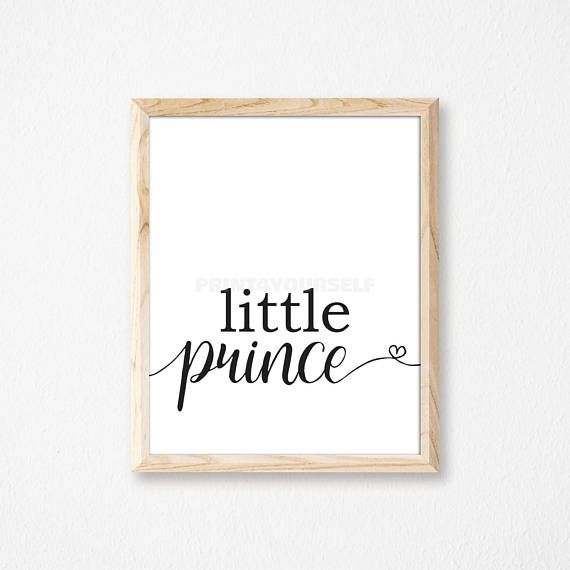 Little Prince Nursery Print. Digital Nursery Print. Prince
