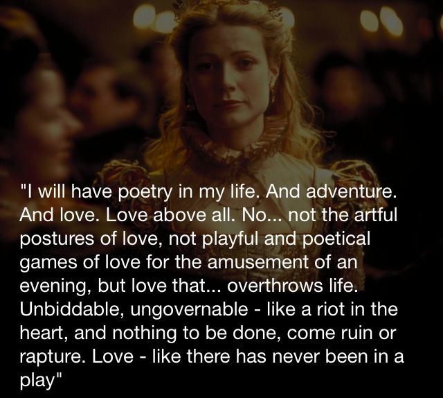 In Love Quotes: Shakespeare In Love: Quotes