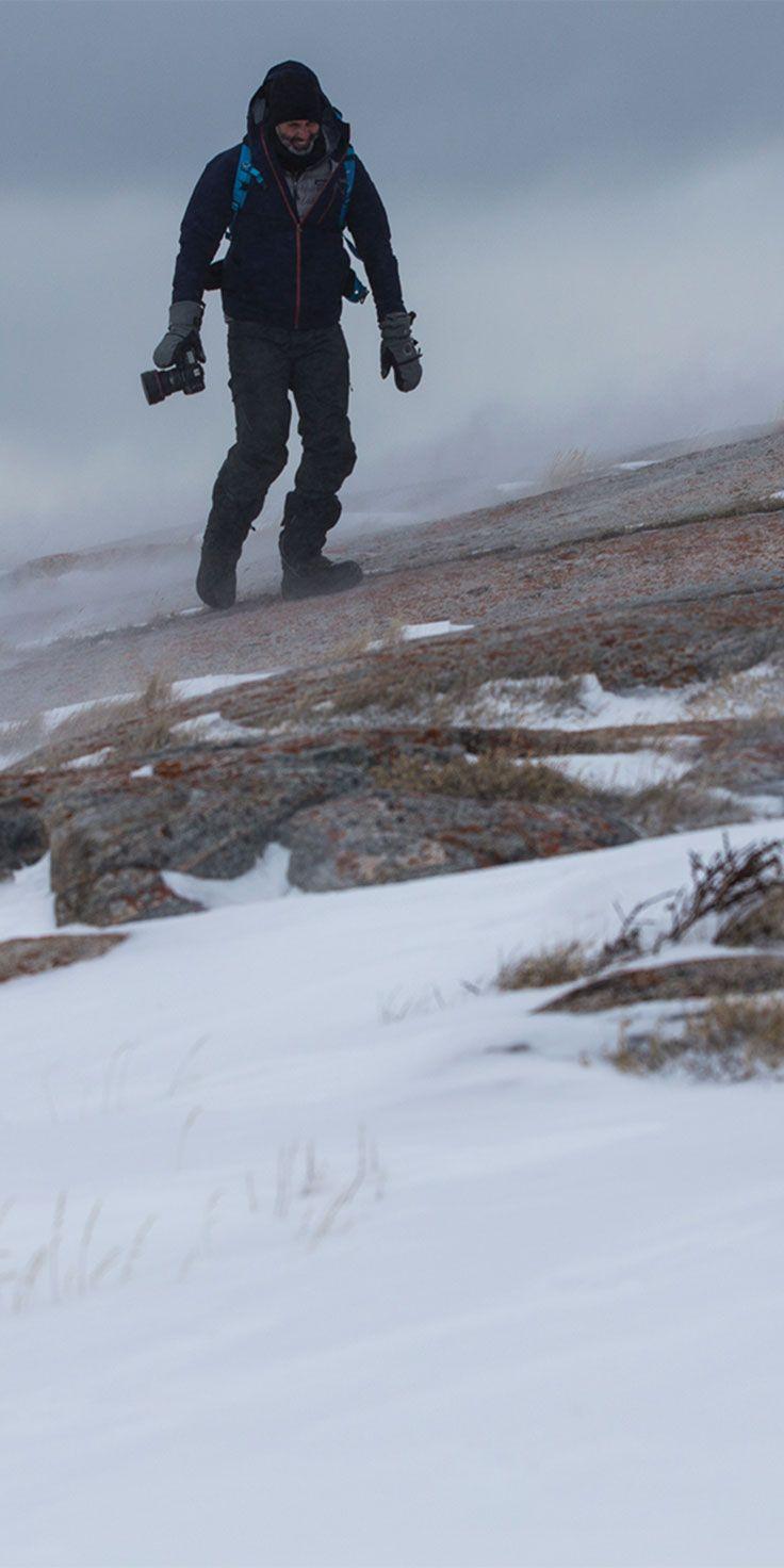 Photographer Sean Scott in action on his amazing adventure