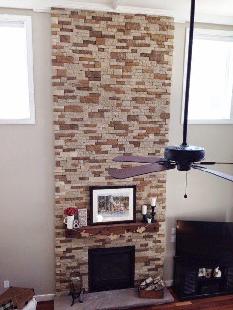 Mama G + Three: Airstone Fireplace | DIY