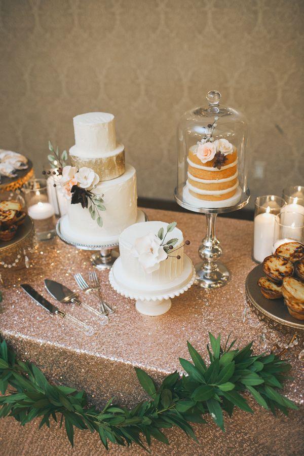 wedding cakes  - photo by Mango Studios - http://ruffledblog.com/ontario-flower-child-wedding/