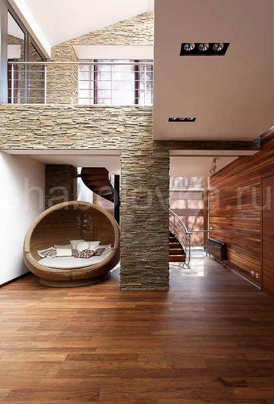 холл и лестница - интерьер в современном стиле