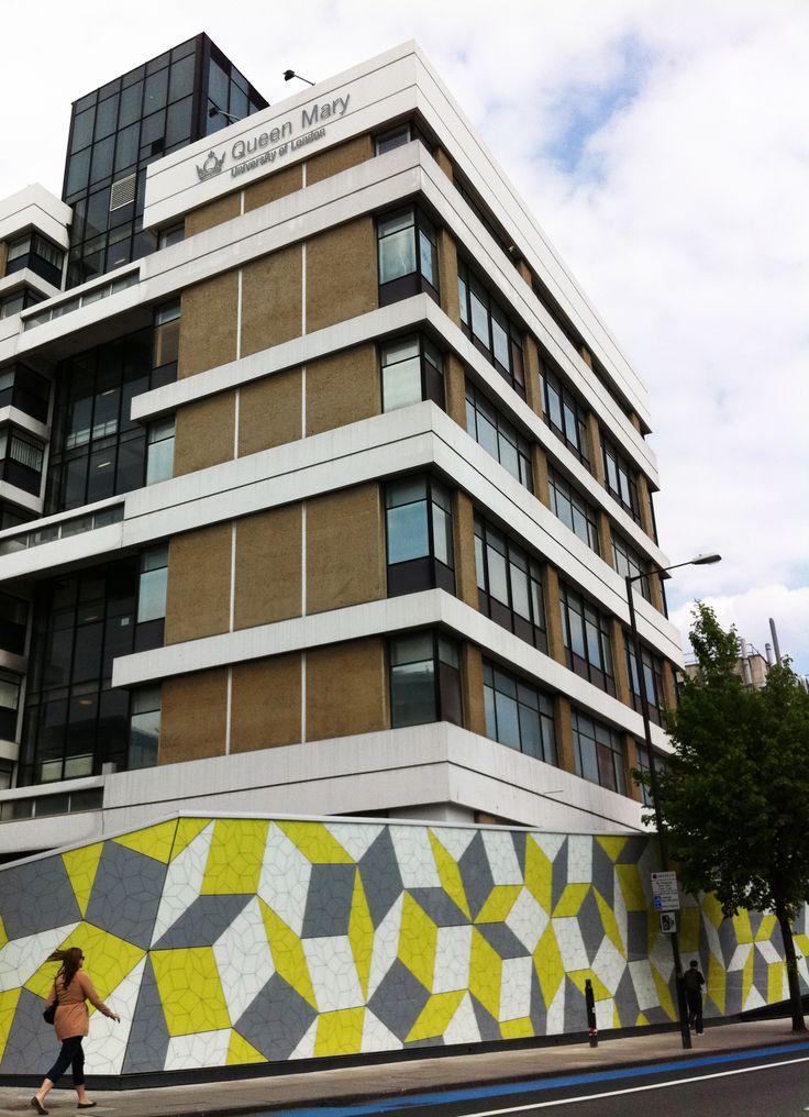 London nel Greater London, Greater London. University Queen Mary, facciata in Vetro e Hpl