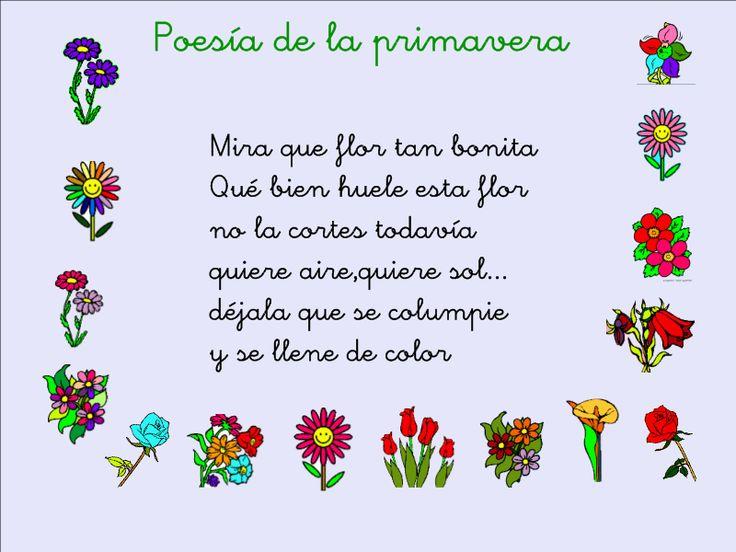 poemas cortos de la primavera   en la clase nos hemos aprendido esta poesía de la primavera