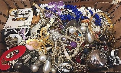 Vintage To Now Junk Drawer Jewelry Lot Unsearched No Reserve B