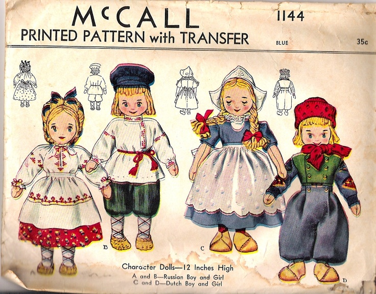 381 besten Vintage Doll Clothes Sewing Pattern Bilder auf Pinterest ...
