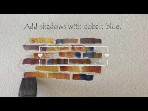 How to Paint Brick Texture Tutorial - P.J. Cook Artist Studio