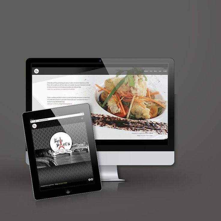 Le petit Paris French Cuisine Web Design. by: Gino Caron Creative Design