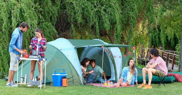Esta carpa con dos habitaciones es ideal para disfrutar el camping con tus amigos. #easytienda #Vacaciones #Easy