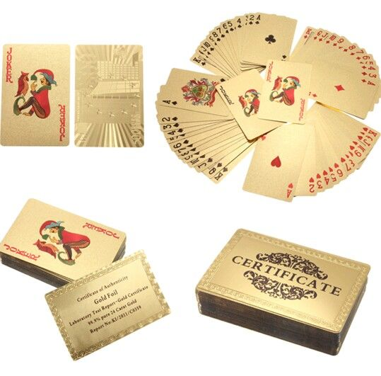 24 Caret Gold Foil Playing Cards