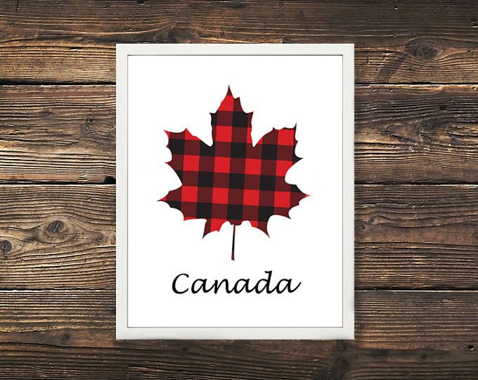 Lumberjack Plaid Canadian Maple Leaf - #ohcanada  Browse unique items from WildNorthCreations on Etsy, a global marketplace of handmade, vintage and creative goods.