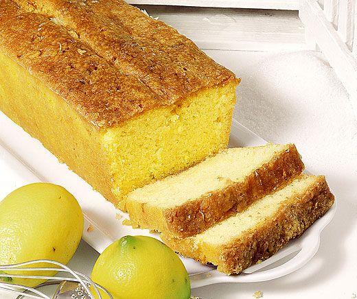 Getränkter Zitronencake