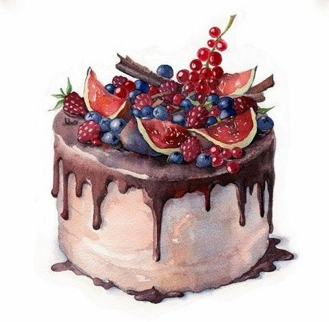 691 Best Cakes And Desserts Illustrations Images On Pinterest