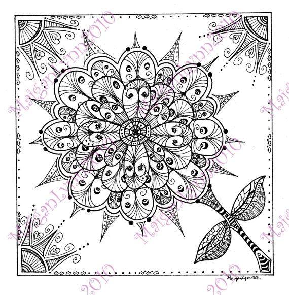 9 best Weißes Mandala images on Pinterest | Zentangle muster ...