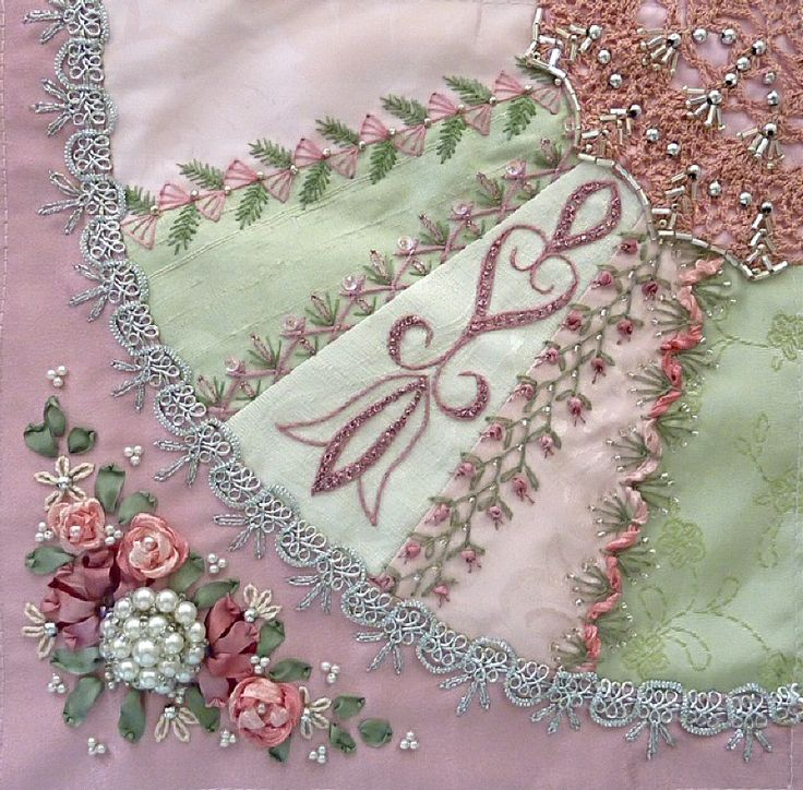 I ❤ crazy quilting, beading & ribbon embroidery . . . Gorgeous January 2012 CQJP Block ~By Susie W