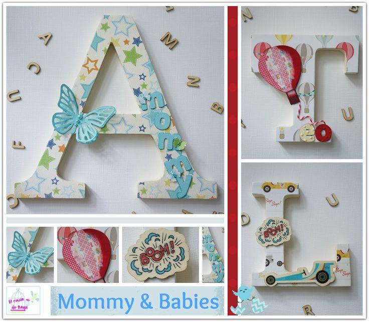 193 best images about letras on pinterest wooden wall letters post de and wooden letters - Letras decoradas scrap ...