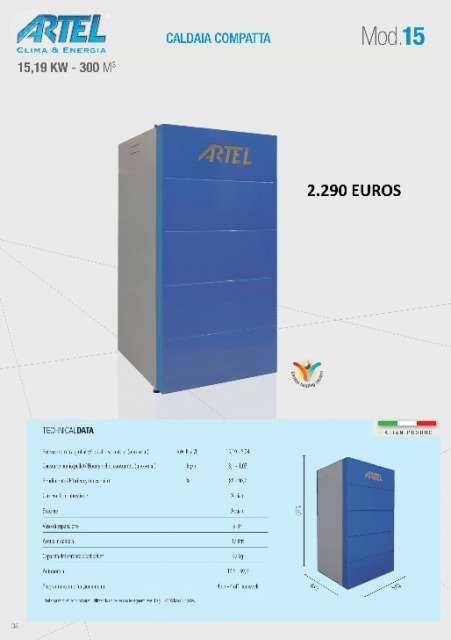. Calderas compactas de pellet ARTEL. Potencias desde 15 hasta 32 kw. Para calefactar desde 300 hasta 620 metros c�bicos. www.calpellet.es