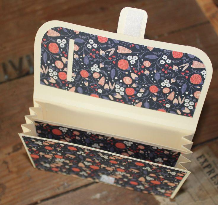 Een portomonee van papier, dessinpapier uit Flow magazine Zelf maken? Kijk op de website