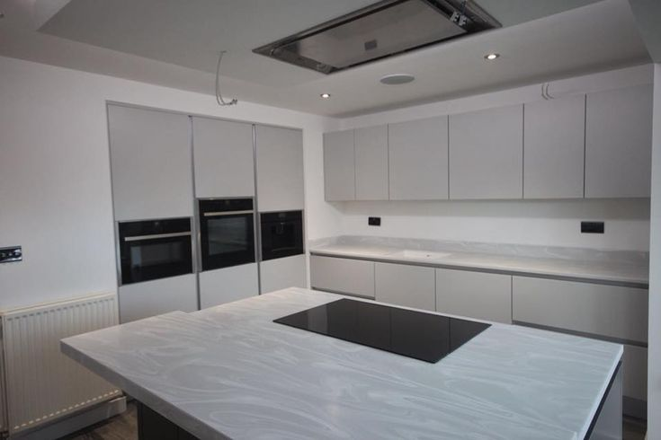 We Love Using Grey Onyx Corian The Beautiful Swirls