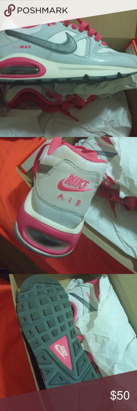 Nike max command Wore a couple times they are missing the insoles a few marks on them size 7y (big girls)    8.5 in women's Nike Shoes Sneakers