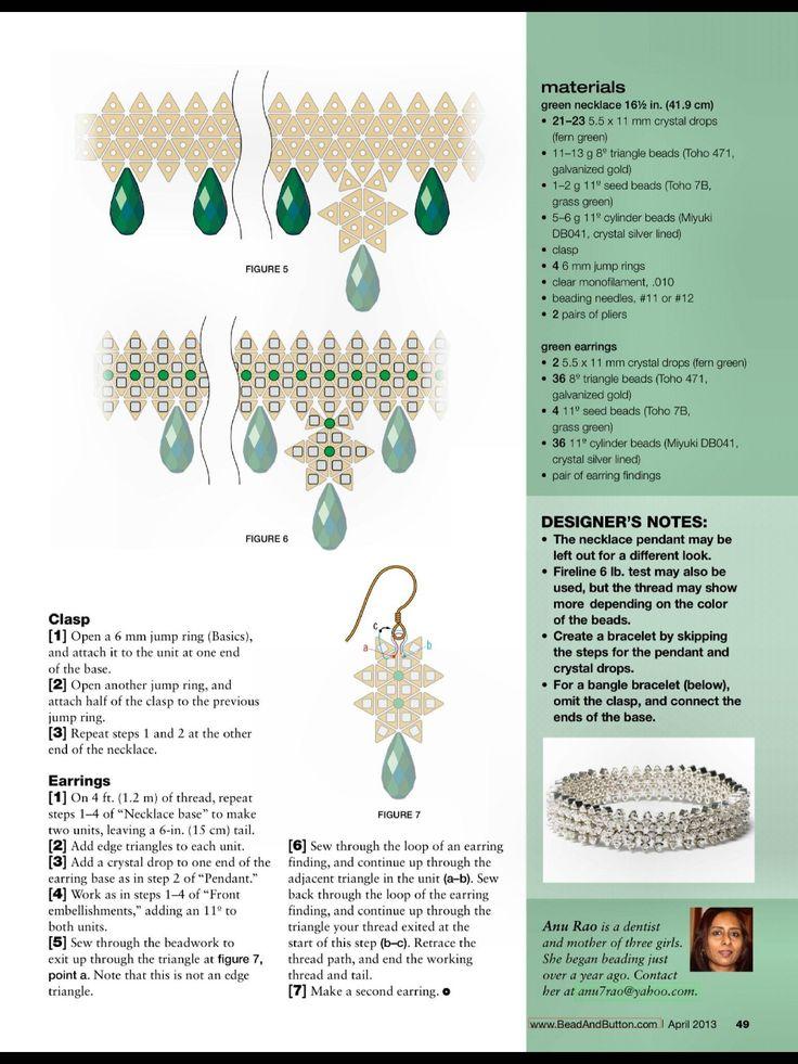 Схемы: Ожерелье и колье. Архив Beads and Button апрель 2013