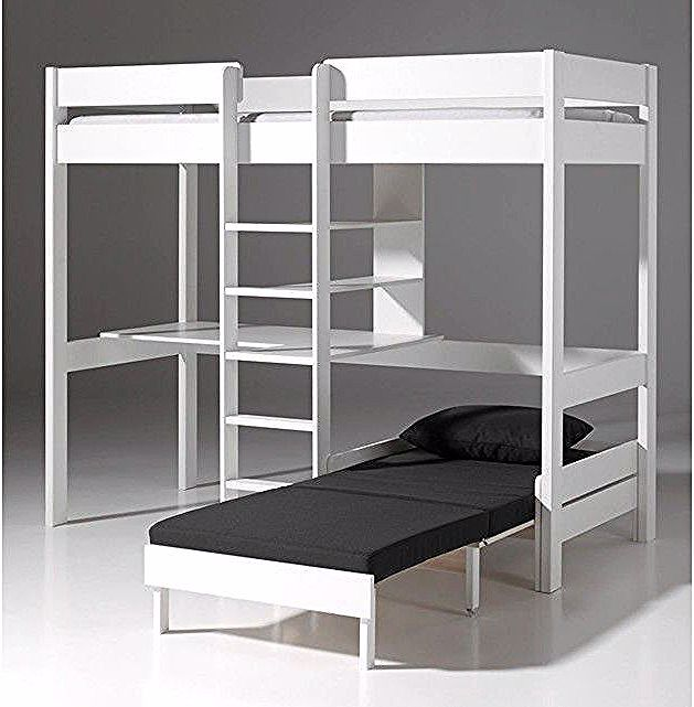 Lit Mezzanine Superpose Bunk Bed With Desk Bunk Beds Loft Bed Plans